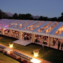Glass party tents for sale